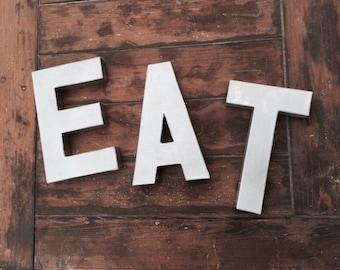 Eat Silver Letter Kitchen Decor