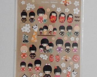 Kawaii Asian Girl Stickers