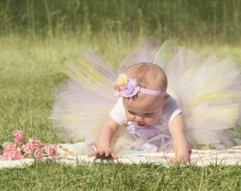 ONE Spring Birthday Onesies, Tutu and Headband Set..Birthday Tutu Set..Smash Cake Tutu Set... Newborn, Baby, Girls Photo Prop Bow
