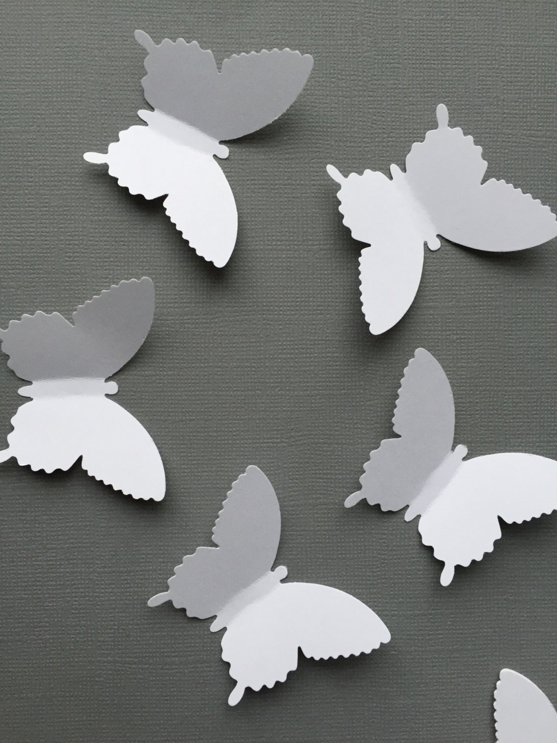 50 white butterfly white paper butterfly by pompomdelightnmore for White paper butterflies