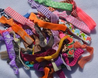Grab Bag - Solid Color and Printed Hair Ties