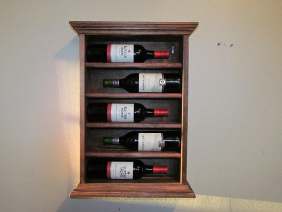 wine bottle rack wall mounted wine rack 5 bottles liquor. Black Bedroom Furniture Sets. Home Design Ideas