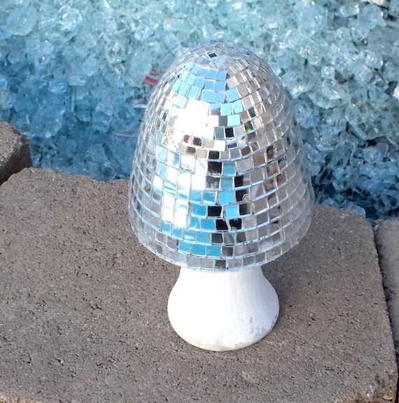 Disco Ball Decoration: Disco Ball Mushroom Home Decor By RockPaperLace On Etsy