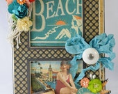 On The Boardwalk Album with Matching Box, Accordion Album, Vintage Beach Theme, Graphic 45,