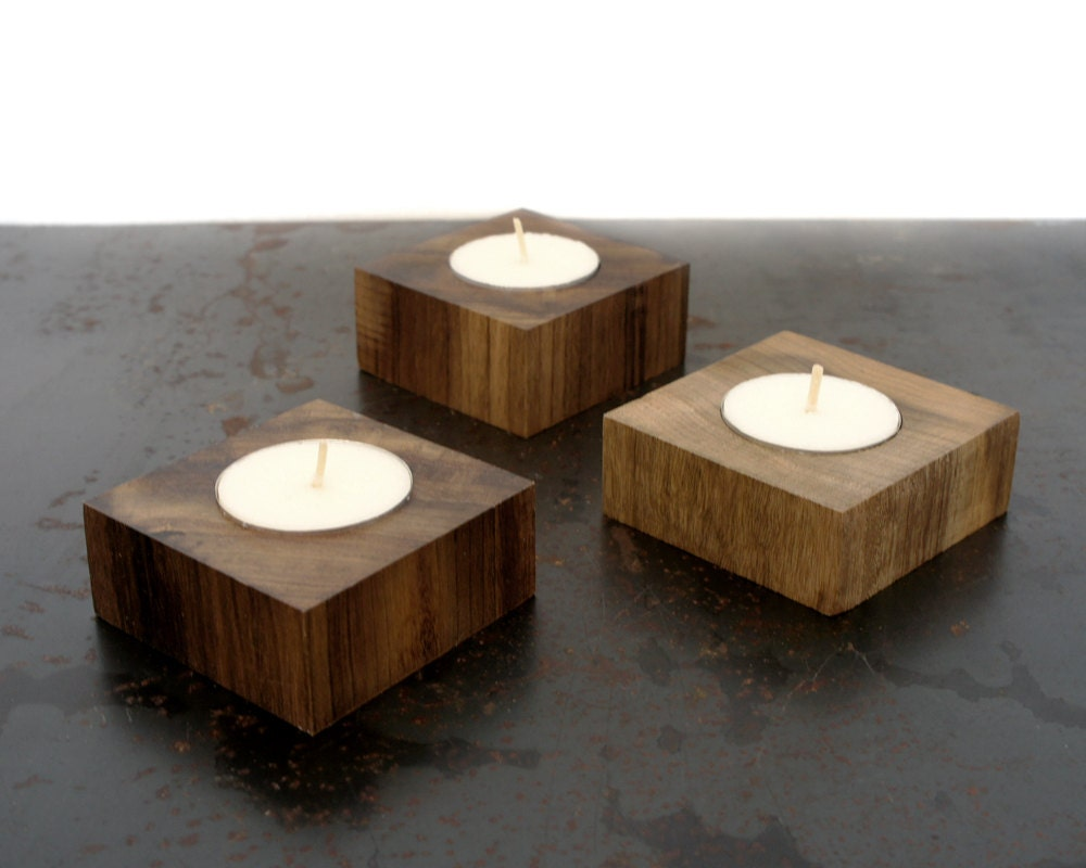 Wooden Tea Light Candle Holder By Mosstwig On Etsy