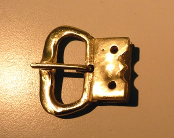 Brass buckle for 13th century re-enactment belts