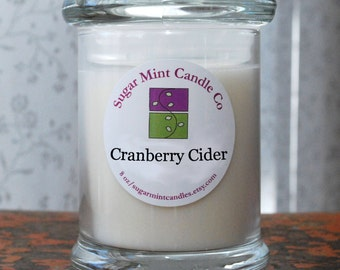 Cranberry Cider Soy Candle - 8 oz