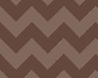 Large Chevron Tone on Tone in Brown from the Chevrons collection for Riley Blake