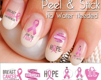 Breast Cancer Awareness Nail Art Decal Stickers RIB913