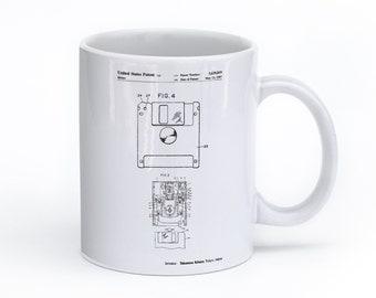 Floppy Disk Mug, Computer Mug, Computer Geek Gift, Office Coffee Mug, Fathers Day Gift, PP0087