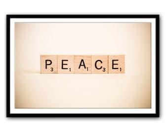 "Instant Download Art - ""Peace"" Printable Art - Print at Home - Printable Downloads -  Printable Wall Art - Printable Word Art"