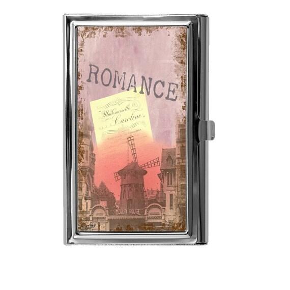Business card holder metal card case vintage romantic for Vintage business card case