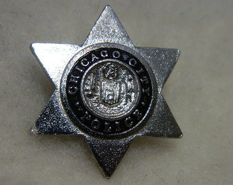 Chicago City Police Badge Pin