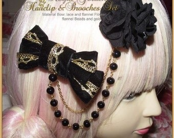 Royal Golden 2 Way Hair Clip & Brooche Set