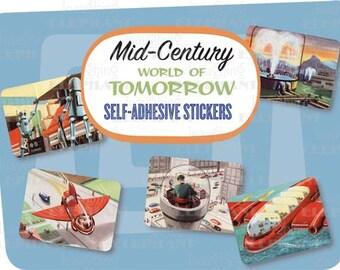 Retro World of Tomorrow Stickers