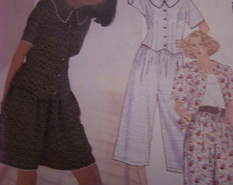 McCalls 4123, Size 10/12, UNCUT sewing pattern, misses, womens, top, culotte, pants