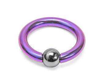 4g Titanium or Niobium Captive Bead Ring - Handmade - Price Per 1