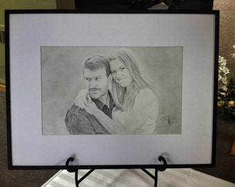 Custom portrait, guest book, 11inch x 17inch drawing from your photo.