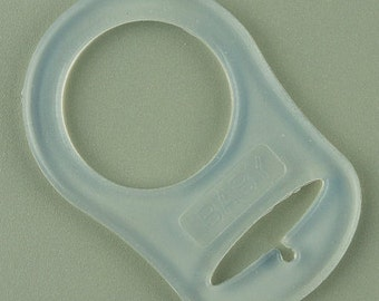 Mam or Nuk Pacifier Adapter - Clear Color Silicone Pacifier Adapter for button style pacifiers
