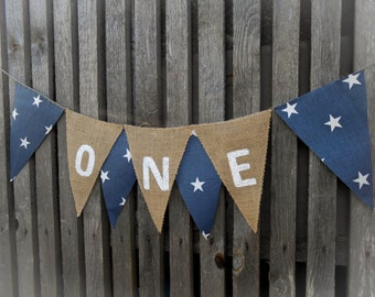 High Chair Garland High Chair Banner One Banner I Am One Boy Banner High Chair Bunting 1st Birthday Banner Star Banner Boy Banner Birthday