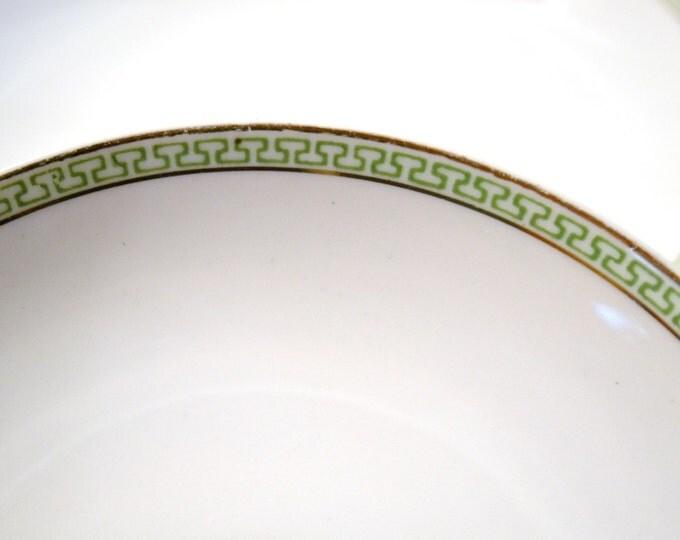 Vintage Noritake Morimura Fruit Bowl Set of 2 Green Geometrical Design Japan PanchosPorch