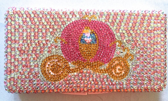 Rhinestone Princess Carriage Baby Wipe Case