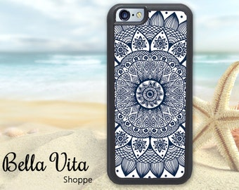 Blue Mandala iPhone 5C Case, Monogrammed iPhone 5C Case, Personalized iPhone 5C Case