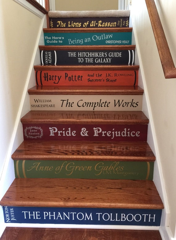 Book Stair Wall Decals by ThatMakesAStatement
