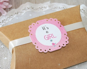 10 Favor tags custom set for birthday and baby shower, bird tags