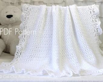 Crochet PATTERN 99 - Silver Spoon - Crochet Baby Blanket PATTERN 99 - Christening Blanket