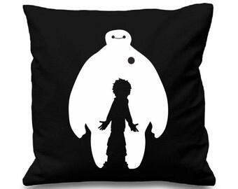 "Baymax and Hiro Disney inspired Cushion/pillow Cover - 16""x16"" (41cmx41cm)"
