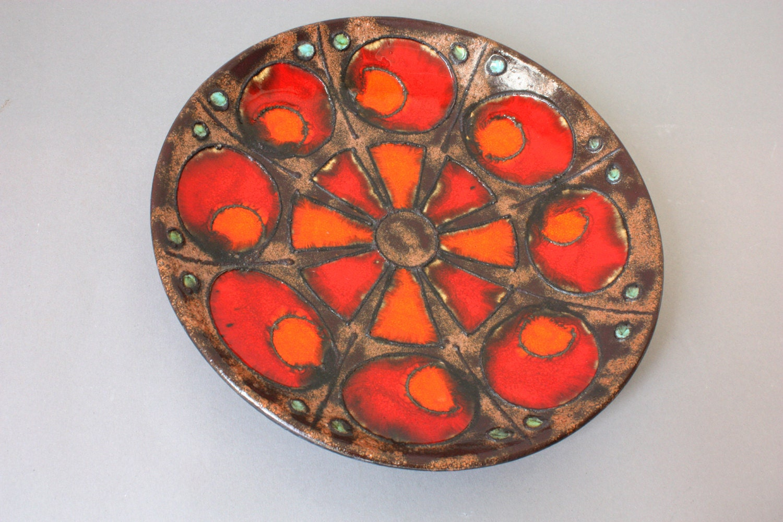 Fat Lava Wall Plate Ceramic Vintage Hanging Fruit Bowl