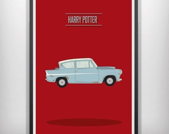 Harry Potter minimal minimalist movie poster