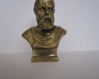 Bronze Bust Sokrates Figure Sculpture