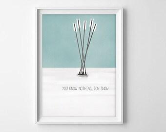 Game Of Thrones Quote Art Print -Jon Snow
