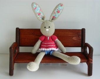 Stuffed Rabbit - Amigurumi Rabbit - Amigurumi Animal - Handmade Rabbit - Stuffed Bunny - Stuffed Animal - Plush - Stuffed Toy