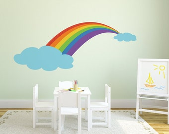 Wall decal RAINBOW wall stickers for nursery, kids room, playroom, children's room decal, vinyl decal, quality vinyl stickers