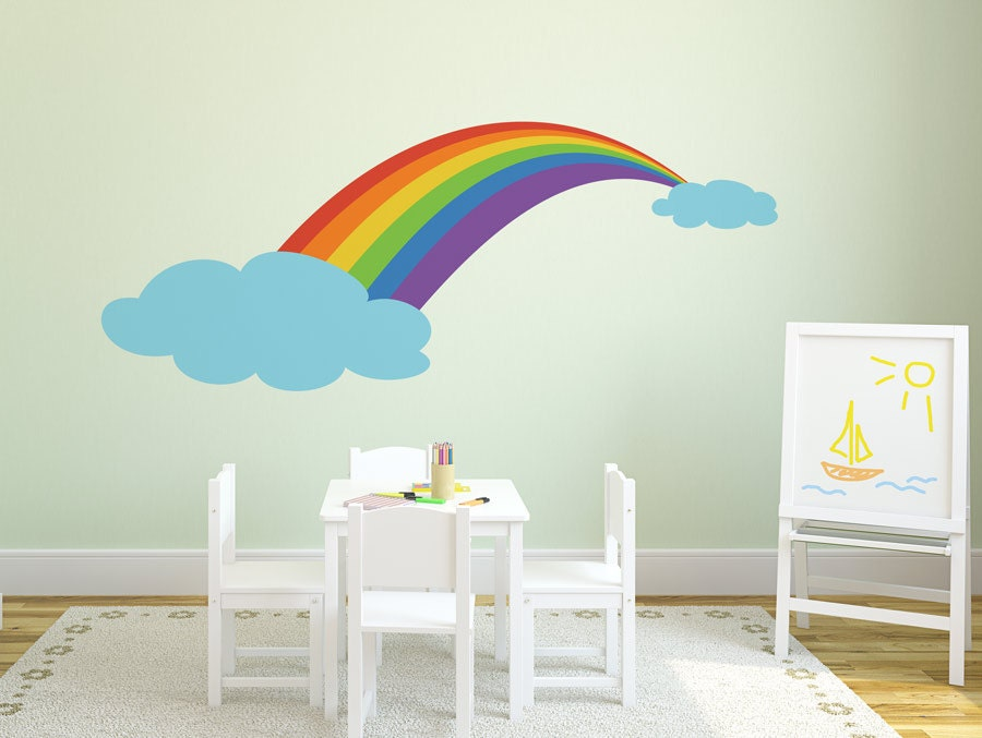 Rainbow Wall Decor Stickers : Wall decal rainbow stickers for nursery kids room