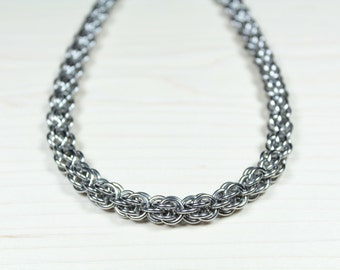 Fieldstone Chainmaille Necklace, Stainless Steel, Chainmail Necklace, Chain Maille Necklace, Chain Mail, Mens Necklace, Necklace for men