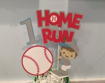 Baseball Centerpiece  - Baby Shower - Happy Birthday Banner - Sports Birthday