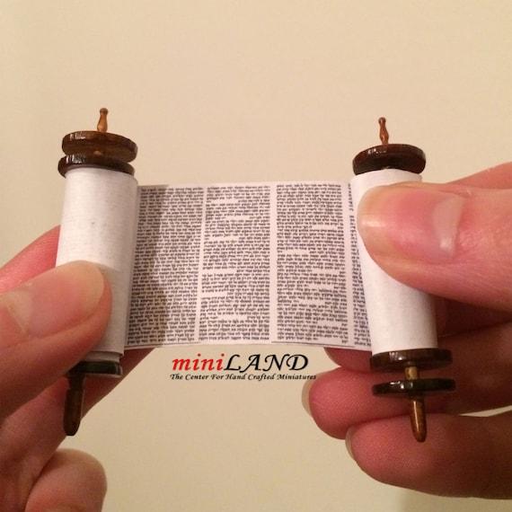 Miniature Jewish Torah Scroll Megillah Prayer Biblical Book