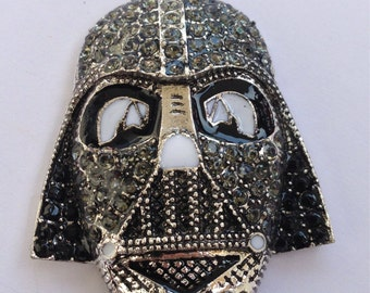 41mm Star Wars Rhinestone Pendant Chunky Necklace Beads