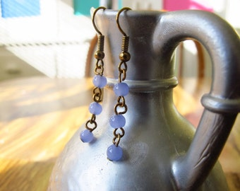 Purple Dangle Earrings