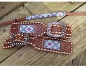 Beaded belt style spur straps