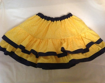 yellow and jean girls skirt size 6-12
