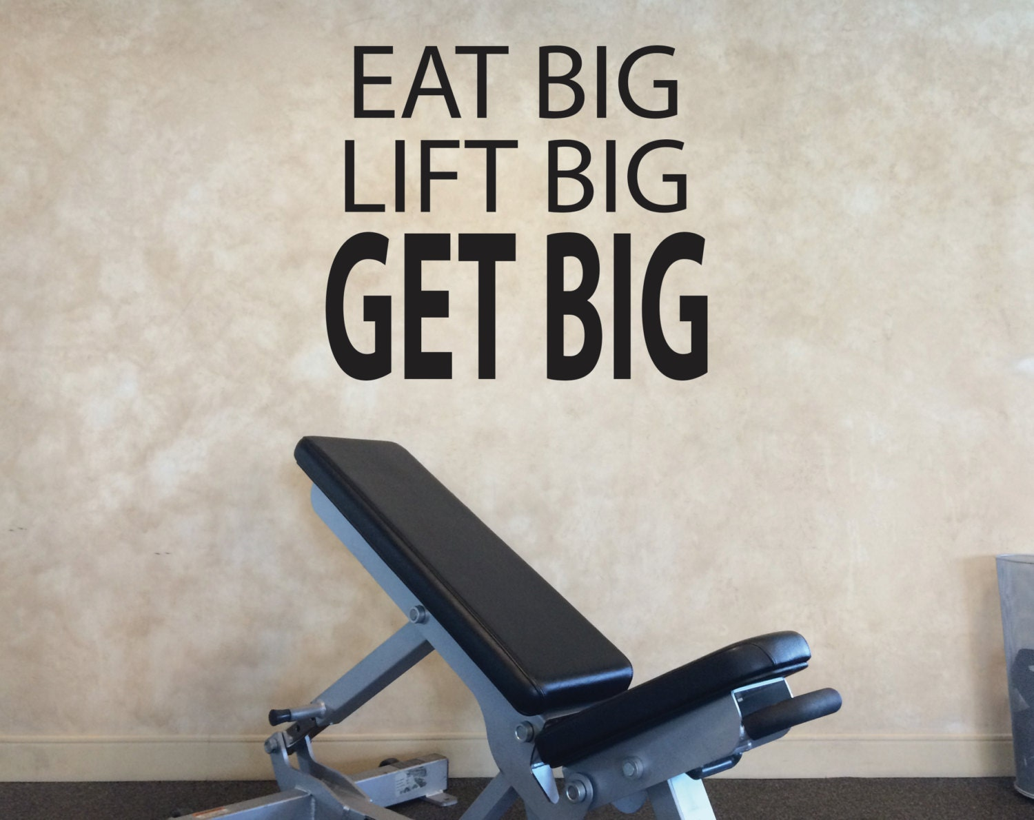 Gym quote home design eat big lift get wall