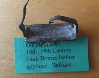18th Century Ottoman Empire Leather Applique