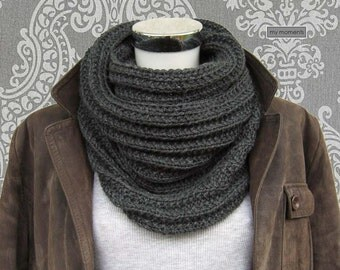 CIRCLE SCARF Merino anthracite