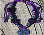 Always In My Heart Bracelet( Purple)