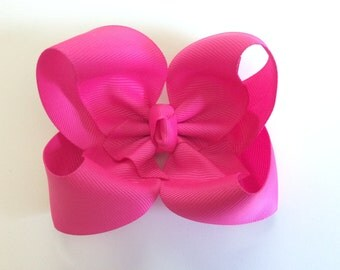 Neon Pink Boutique Bow